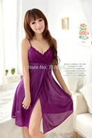 одежда оптовых-Wholesale-2015 new sleep wear womens pajamas Sexy pajamas sexy purple lace pajamas