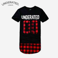 1215 magliette del Mens moda 2015 Summer Red plaid Underated 00 london Tyga oro esteso Streetwear brevi Swag T-SHIRT MANICHE 6 modello