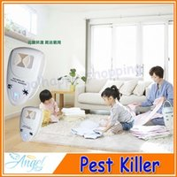 Atacado-3pcs / lot Ultrasonic Eletrônico Pest mouse Bug Mosquito Insect Repeller Electro Magnetic / plug EUA