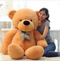 lazo corbatas oso de peluche al por mayor-Muñeco de peluche extragrande Muñeca Teddy Bear 1.6 m 2 m Con una pajarita Big Teddy Bear