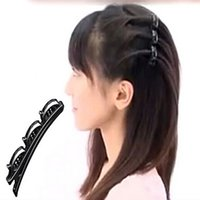Wholesale Hair Bump Accessory - 2015 New Girls' Hair Clips Double Hair Pin Clips Barrette Comb Hairpin Hair Disk Bump Hair Accessories