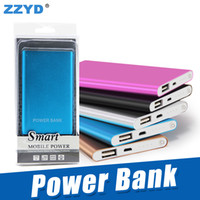 Wholesale ultra mobile phones - ZZYD Portable Ultra thin slim powerbank mah charger power bank for S8 mobile phone Tablet PC External battery
