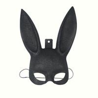 Wholesale sexy bunny halloween costume - 1Pcs Masquerade Rabbit Mask Sexy Bondage Bunny Long Ears Carnival Halloween Costume Party Gift 3