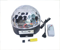 Gros-6 * 3W LED RGB numérique MP3 cristal Magic Ball Effet Light Music Disco DJ étape du parti Lighting + lampe de contrôle à distance U disque