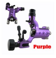 Wholesale Purple Tattoo Guns - Wholesale-Dragonfly Tattoo Machine Gun With RCA Purple Tattoo Machine Shader And Liner Free Shipping
