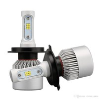 Wholesale H7 Led Low Beam - 2Pcs H4 LED H7 H11 9005 9006 HB4 S2 CSP Chip Auto Car Headlight 72W 8000LM High Low Beam All In One Automobiles Lamp 6500K 12V