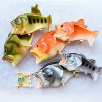 chinelos de plástico homens venda por atacado-Em forma de peixe Baboosh Personalidade Engraçada Chinelos De Plástico Homens E Mulheres Verão Praia Sapatos Multi Color 11 5hy3 C R