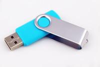 usb flash popüler toptan satış-50 adet Promosyon pendrive 64 GB popüler USB Flash Sürücü Iyi HEDIYE DISK ile DHL Fedex ile dönme tarzı memory stick