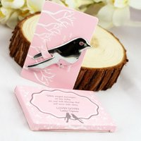 Wholesale Letter Opener Wedding Favor - wholesale Wedding Favor 100pcs lot Love Birds Letter Opener Souvenirs for Wedding Party free shipping #RX120132