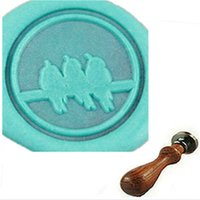 Wholesale Sing Pictures - Vintage Three Birds Sing Custom Picture Wax Seal Stamp Wedding Invitation