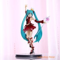 Wholesale Hatsune Doll - Free Shipping Hatsune Miku Big Ver. Action Figure Big Ver. Crown Miku Doll PVC ACGN figure Toy Brinquedos Anime 25CM