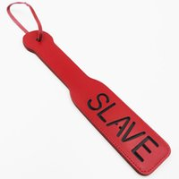 Wholesale Adult Sexual Toy - Red Thicken flogger Spanking Beat Women Sexual PVC Leather Slave Fetish Toy For Adult Sex Games