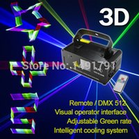All'ingrosso-Remote impianto stereo home theatre DMX proiettore 3D Effetto 400mW RGB Laser Show Lighting scanner DJ Party LED Effetto