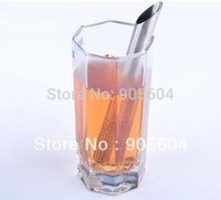Wholesale Teaspoon Tea Stainless Steel Strainer - Free shipping! Stainless Steel Filter Tea Sticks Teaspoon Colander Tea Strainers Oblique Tea Stick Tube Tea Infuser Steeper
