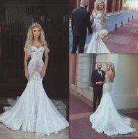 Wholesale Vestido Dubai Bridal - Sexy Mermaid Wedding Dresses 2018 New Off the Shoulder with Lace Appliques Cheap Bridal Gowns Arabic Dubai Vestido De Novia Custom BA7275