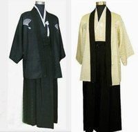 Wholesale Dresses Japanese Kimonos - Large landowners samurai costume kimono costume clothing photographed portrait Japan Japanese kimono dress for men