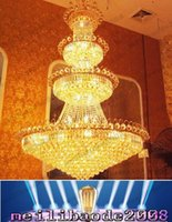 Wholesale New K9 Crystal Chandelier - Penthouse Floor Villa Stairs Duplex Mansion Hotel Lobby Large Living Room Lamp K9 Crystal Chandelier Pendant Droplight Lighting NEW MYY16669