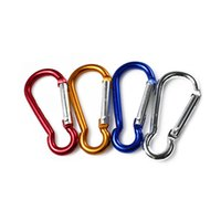 Wholesale 4Pcs cm Colorful Carabiner Camp Snap Clip Hook Key Chain Hiking Key Chain
