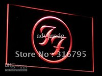 Wholesale Rock Roll Signed - c031-r Foo Fighters Rock n Roll Punk Bar Light Sign