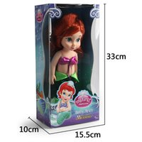 Wholesale Ariel Little Mermaid Doll - The Little Mermaid Ariel Dolls Girl Animators Salon Doll with Retail Box Princess animators collections 30cm 12 inches
