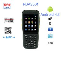 Vente en gros-ZKC Android 4.2 poche 1D Barcode Scanner PDA poche PDA3501