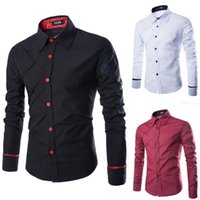 Wholesale Check Shirt New Style - New Style Anti Wrinkle Checked Pattern Long Sleeve Turn Down Collar Slimming Fit Shirt For Men