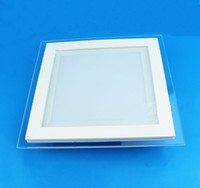 Wholesale Led Square Panel - LED pane Lights SMD5730 Recessed Downlight Round Square glass led ceiling panel light Cool Warm white LED lighting 110v 220v CE SAA
