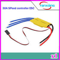 Wholesale Rc Helicopter Speed - Chpost 1 pieces 30A Brushless Motor Speed Controller RC BEC ESC T-rex 450 V2 Helicopter Boat ZY-DJI-30A