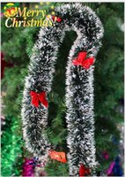 Wholesale Merry Christmas Green - pine garland merry christmas christmas tree decoration strip decoration garland Christmas ribbon Christmas decoration free shipping CR002