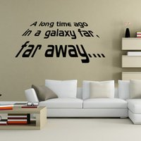 Wholesale Diy Adornment Sticker - Star Wars Wall Stickers Far Away Quotable DIY Bedroom Home Decoration Wall Mural PVC Adornment Removable Wall Decal