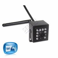 Wholesale Smallest Cmos Camera - Mini IR Camera Indoor 940nm Ir Led Wireless WIFI Ip Camera Pinhole Smallest Night Vision for 1.0 Megapixe 720P HI3518E