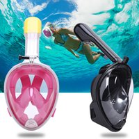 Wholesale Full Face Diving - China Factory Snorkel Set Swimming Training Scuba Snorkel Mask Anti-fog Full Face Diving Mask with Sport Camera Holder