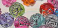 flache plastikcharme großhandel-Großhandel - 200 Stück 8mm DIY Rose transparent Kunststoff Perlen Perlen Schmuck Zubehör Optionale Farben