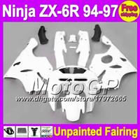 Wholesale Kawasaki Zx6r Fairing 1995 - 7gifts Unpainted Full Fairing Kit For KAWASAKI NINJA ZX-6R 94-97 ZX6R ZX 6R 6 R 94 95 96 97 1994 1995 1996 1997 Fairings Bodywork Body