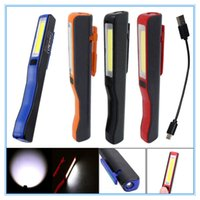 Novo Mini COB LED Pen Light Clip Magnet USB recarregável Work Torch lanterna lâmpada --M25