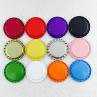 paint metal siding - 100Pcs mm mm quot Metal Flattened Bottle Caps Printed On Both Sides Painted Barrette Jewelry Accessories mm External Diameter