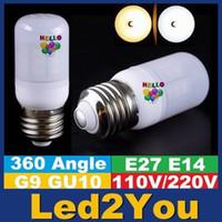 Wholesale G9 Frosted - Super Bright SMD 5730 E27 Led Bulb Light G9 GU10 E14 Led Shop Light White Frosted 360 Angle Led Light AC 110-220V