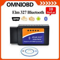 Wholesale Elm327 Interface Obd2 - 10PCS LOTBluetooth ELM327 Auto Scanner OBD2 OBDII Adapter bluetooth ELM 327 Interface OBD2   OBD II Auto Car Diagnostic Scanner