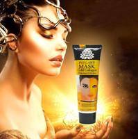 altın yüz maskesi toptan satış-Altın Soyulabilir Maske Yüz Maskesi Yüz Bakımı Beyazlatma Yüz Maskeleri Cilt Bakımı Yüz Kaldırma Sıkılaştırıcı Maske
