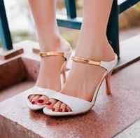 kadınlar için açık ayak parmağı sandalet toptan satış-Büyük Boy US4-12 Moda Yüksek Topuklar Kadınlar için Gladyatör Sandalet Açık Ayak Platformu 4 renkler Sandalet Yaz Ayakkabı LX15