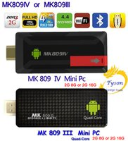 MK809IV oder MK809III TV Dongle Stick Android TV Box Quad Core CPU 2G 8G oder 2G 16G Mini PC WiFi HDMI Android 4.4 Bluetooth