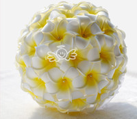Wholesale Handmade Bouquets - 2015 White And Yellow Bridal Bouquets Bride Holding Flowers Handmade Artificial Wedding Favors Wedding Bouquet Wedding Flowers High Quality