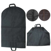 Wholesale travel clothes hangers for sale - New Suit Coat Dress Storage Garment Carrier Bag Travel Cover Hanger Protector Y102