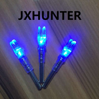 Wholesale Blue Compound Bow - 3PK Archery hunting compound bow carbon arrow tails lighted led light arrow nock for ID 6.2mm arrows blue color