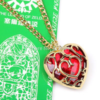 Wholesale Zelda Skyward Sword - The Legend of Zelda Skyward Sword Heart Container Necklace Cosplay Pendant Jewelry Necklace with Retail Box ANPD1920