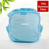 pantalones de entrenamiento de tela al por mayor-Impermeable lavable de fibra de bambú reutilizable bebé pañal de tela pantalones de entrenamiento bebe pañales infantil pañal 1 pañal + 2 inserciones