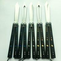 Wholesale Gifts Butterfly - OEM butterfly balisong D2 black G10 Titanium liner jilt knife Free-swinging BM51 V3 V4 V6 BM43 BM49 Xmas gift knives