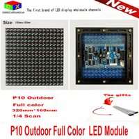 Wholesale Video Wall Displays - P10 Rain proof dust full outdoor LED display module 160 mm * 160 mm 1 4 scan LED module for P10 rgb led video wall