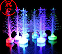Wholesale Led Fiber Optic Christmas Trees - Top quality 2015 new Hot sale new year LED colors Christmas tree gifts fiber optic light Christmas hat activity supplies 100pcs