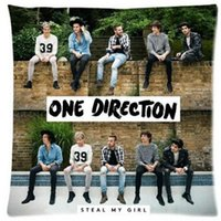 Wholesale 1d Cartoon - Wholesale-X Factor Famous Band Music Stars One Direction 1D Signature Blue Wave Ocean Cartoon Funny Custom Cotton & Polyester Soft